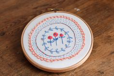 Flo Corretti -Hand Embroidered hoop #Etsy