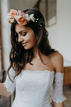 Boho, Crown, Bride, Wedding Dresses, Collection, Design, Fashion, Unique Wedding Dress, Handmade