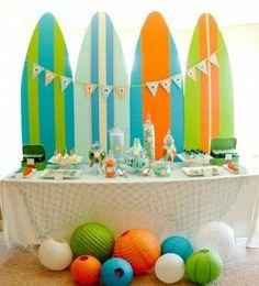 decoração festa infantil tema surf