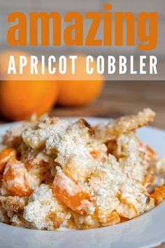 Apricot Cobbler, Light Golden Brown, White Cake Mixes, Cool Diy Projects, Casserole Dishes, Sweet Tooth, Vegetarian, Favorite Recipes, Fresh