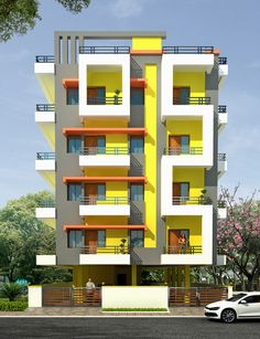 Residential Building Design, Architecture Building Design, Home Building Design, Facade Design, Exterior Design, House Main Gates Design, House Outside Design, House Front Design, Condominium Architecture