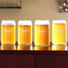 Home Brew Can Glasses (Set of 4) $29