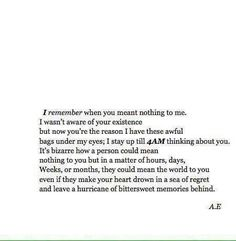 I remember..