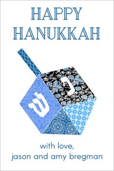 Personalized Dreidel Gift Stickers