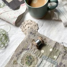 Waking up and smelling the coffee  check. Slowing down & #mindfulstitching  check. Getting back to my #aroundtheworldin80project #scrapquilt having enjoyed a break not feeling the slightest bit guilty!  Check!! How blissful and new that feeling is! .  Anyone else managed to let go of unhelpful habits ? Id love to know if you have... .  Throughout my career and family life the ever-present juggling multi-tasking and perfectionism felt like essential turbo-boosters to motivate and sustain me. Unti