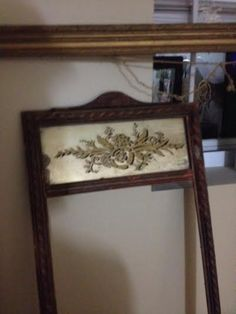 Antique picture frame with mirror very ornate rustic by FILCA