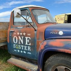 "Janet Rae Nesbitt on Instagram: ""Love my new sign post! Thank you @dennywuesthoff  #ones1ster #ones1sterdesigns #onesisterdesigns #handpaintedsigns #trucksofinstagram"" Hand Painted Signs, New Sign, Quilts, My Love, Instagram, Patch Quilt, Kilts, Log Cabin Quilts, Comforters"