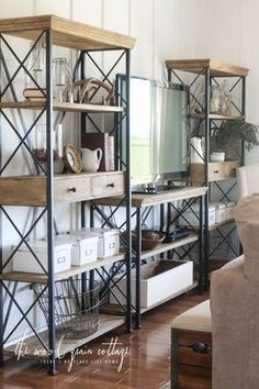 Create a wall of shelving by combining multiple pieces to fit your space! See how here!