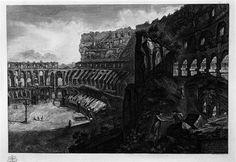Vedute di Roma: interno del Colosseo; Giovanni Battista Piranesi; acquaforte; 1788.