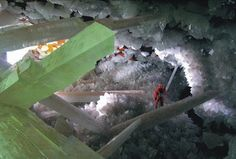 crystal filled caves   giant crystal cave photos cachedgiant crystal filled unbearable heat ...