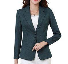 485d73985bdfc Tootless-Women Linen Cotton Plus Size Premium Small Blazer Wrap Office Work Suit  Jacket
