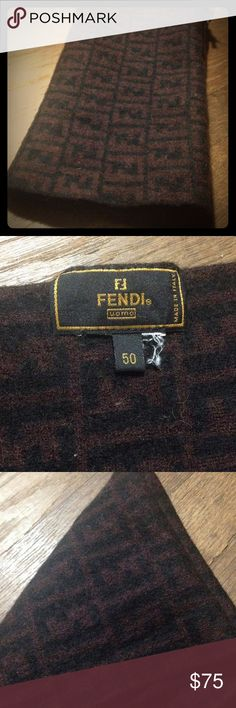 Warm Wool FENDI Scarf Vintage FENDI scarf missing care tag. EUC and priced to sell. Will come free of all cat hair 😉. Great bc it will work w/ black or brown palette Fendi Accessories Scarves & Wraps