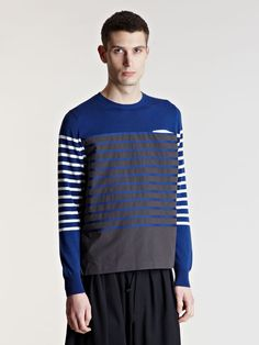 Sacai Men's Striped Jumper