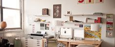 Jamie Latendresse's Ideal Live/Work Space – Home Office Design On A Budget Home Studio, Studio Studio, Studio Spaces, Studio Ideas, Dream Studio, Jessica Hische, Class Design, Studio Design, Workspace Inspiration