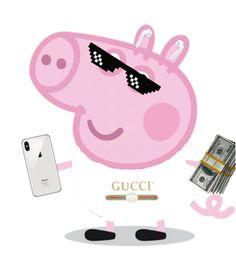 Funny Iphone Wallpaper, Cute Disney Wallpaper, Funny Wallpapers, Peppa Pig Funny, Peppa Pig Memes, Peppa Pig Stickers, Cute Stickers, Stupid Funny Memes, Funny Relatable Memes