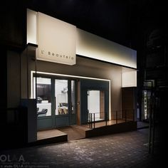 Ideas Exterior Design Cafe Shop Fronts For 2019 Cafe Exterior, Design Exterior, Exterior Signage, House Paint Exterior, Facade Design, Exterior Shutters, Rustic Exterior, Grey Exterior, Modern Exterior