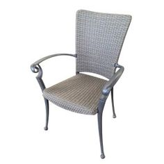 Cast Aluminium Chair with Wicker Rattan - Aluminium Chairs - Chairs - Products