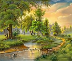 Oil Painting - Most Popular Art Form Of The Modern Times New Wallpaper Download, Wallpaper Free, Latest Wallpaper, Scenery Wallpaper, Wallpaper Desktop, Art Et Nature, Image Nature, Nature Hd, Nature Tree