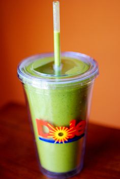 Green Monster Spinach Smoothie 1 frozen sliced banana 1 Tablespoon peanut butter 1/2 cup 0% Vanilla Chobani Greek yogurt 1 cup Unsweetened Vanilla Almond Breeze (or other kind of milk) 4 cups baby spinach (or more, or less)