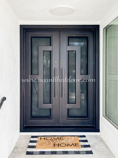 Did you know we specialize in beautiful handcrafted modern iron entry doors that add stunning beauty and style to any home? 💡 About this design: Oslo Double Entry Iron Door ☎️️ 877-205-9418 🌐 www.iwantthatdoor.com Entry Doors, Garage Doors, Wrought Iron Doors, Home Improvement, Oslo, Outdoor Decor, Beauty, Beautiful