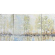 Through the Mist Textured by Studio 212 3 Piece Painting Print on Canvas Set   Birch Lane