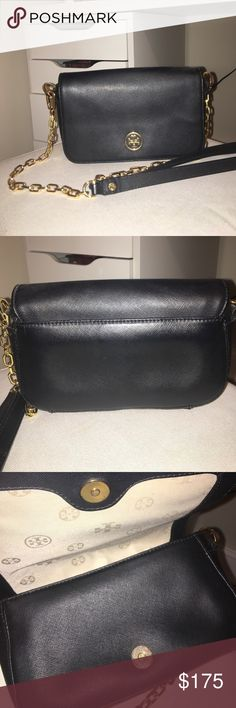 TORY BURCH CROSSBODY a well loved tory butch cross body bag. it has the slight wear and tear (i've had it for about 3/4 yrs) like the magnetic closure is a bit scratched up but no obvious leather damages. I can email you more pics if you are interested. Tory Burch Bags Crossbody Bags
