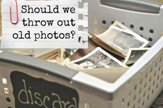 Should we throw out old photos when we are organizing our lifetime photo collections? Some things to consider from The Photo Organizers. Genealogy Organization, Organization Hacks, Organizing Tips, Scrapbook Organization, Photo Craft, Diy Photo, Photo Ideas, Picture Ideas, Old Pictures