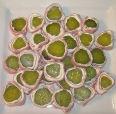 Looks awful but what a great baby shower food, or just an easy lunch idea (because I heart pickles).