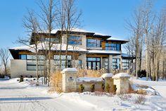 Maison contemporaine dans le Boisé (Boucherville) - Façade avant