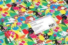 Projeto inspirador de cartão de visita. Business Card Criação de Federico Landini  http://www.idependonme.com/puf-festival