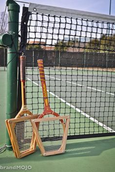 Vintage Tennis Rackets with Wood Guards 1970s by MOJOmercantile, $55.00