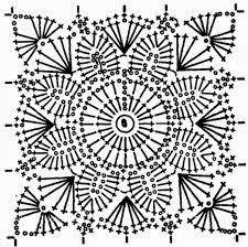 Ivelise Feito à Mão: Lindo Square Com Flor Em Crochê