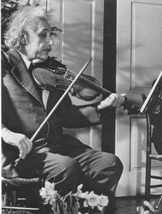 Physicist Dr. Albert Einstein Practicing His Beloved Violin, 1941 by Hansel Mieth