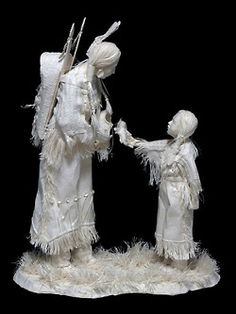 Indian Mother and Child, paper art