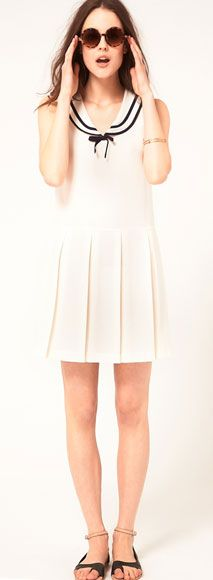 Memorial Day Inspiration // Boutique By Jaeger Sleeveless Sailor Dress