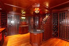 Dream Wine Cellar! And it's in a home that's for sale right in town. :)