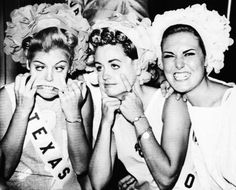 Miss USA 1965 pageant contestants, Miss Texas, Miss Ohio and Miss New Mexico.