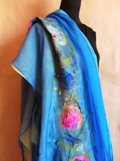 nuno felted linen, silk and a bit of wool