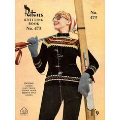 SALE 1950s Vintage Fair Isle Sweater Knitting Patterns for Women Patons Knitting Book 473 Original Knitting Booklet