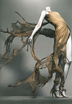 So much fun - An image from the Alexander McQueen exhibit at the Met. Inspiring!      Find mannequins in unique poses at Mannequin Madness (see our used mannequins)