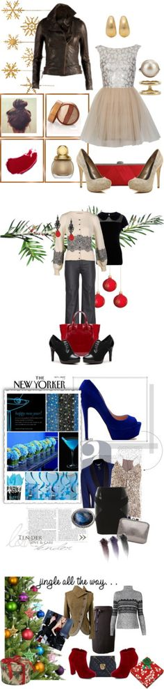 """Holiday party looks - which one do you love?"" by intheclotheset on Polyvore"