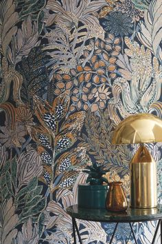 estas son las tendencias - DECO HOME- estas son las tendencias - DECO HOME- Borromee Wallpaper by Casamance Bathroom Wallpaper Trends, Bold Wallpaper, Interior Wallpaper, Botanical Wallpaper, Bold Living Room Wallpaper, Wallpaper Toilet, Feature Wallpaper, Wallpaper Murals, Kawaii Wallpaper