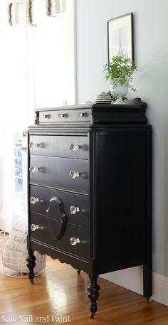 Lamp Black Vintage Dresser side