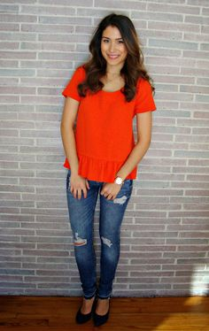 RED ORANGE TOP