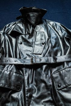 1950's British Motorcycle Dispatch Coat. Weather-proof Foul Weather Jacket. — SAUNDERSMILITARIA British Motorcycles, Motorcycle Outfit, Golden Age, 1950s, Military Clothing, Leather Jacket, The Incredibles, Weather, Men's Outerwear