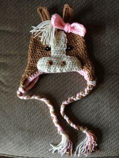 Crochet horse Crochet Animal Hats 5e82e850216