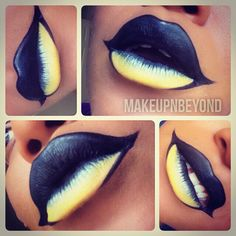Very dramatic and artistic way to dress your lips.