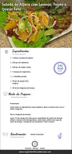 Salada de Alface com Laranja  → http://www.segredodefinicaomuscular.com/salada-de-alface-com-laranja-para-sua-reeducacao-alimentar/ #Receita