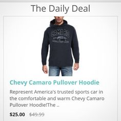 It may be Black Friday but we've got a new deal daily! Get today's at http://ift.tt/2sEnv49  Price in CAD. #daily #deal #todayonly #gift #Christmas #Canada #blackfriday #Camaro #Chevy #Chevrolet #gm #hoodie #sweater #pullover