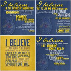 National FFA Week, ffa creed, farming, i believe